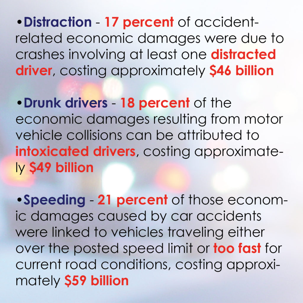 Motor vehicle accidents cost both economic damages lives for Motor vehicle crashes cost american
