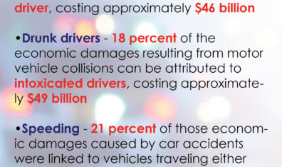 Motor vehicle accidents cost both economic damages, lives each year