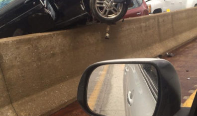 29-vehicle car accident in St. Louis due to wet weather driving conditions?