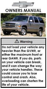 tahoe owners manual